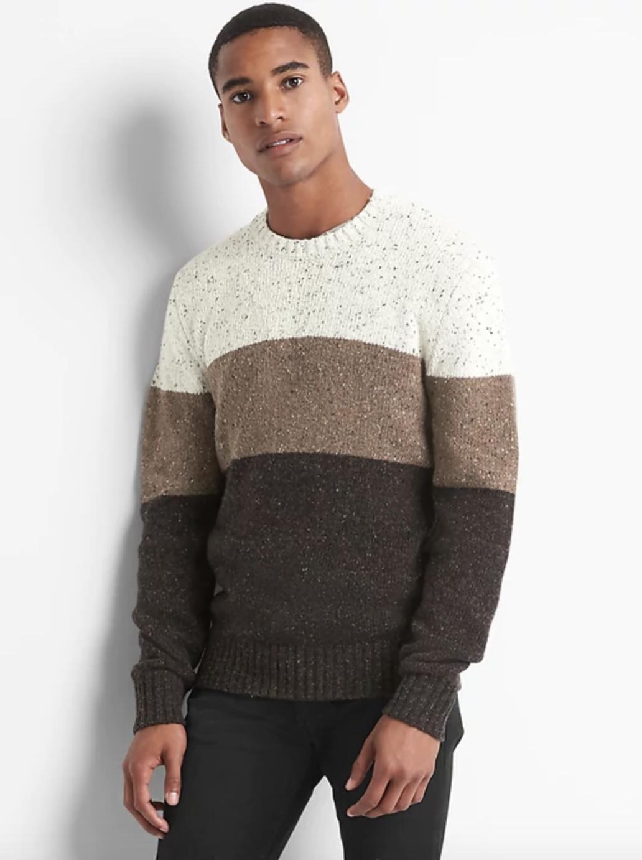 Stripe Crewneck Sweater - $29