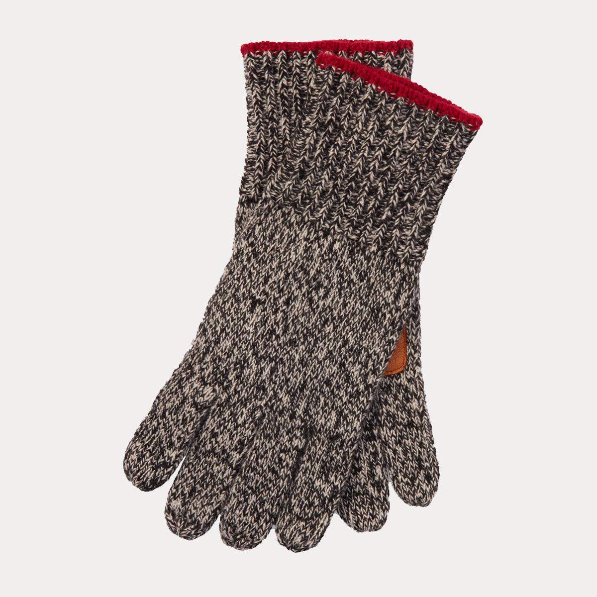 Deerskin-Palm Knit Gloves