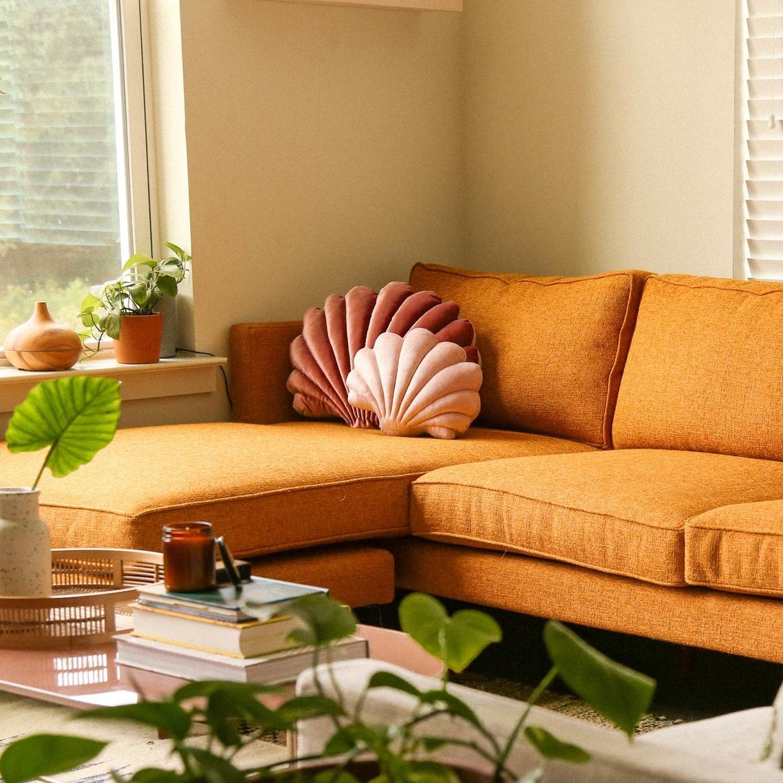 Velvet Shell Pillows ($80+)