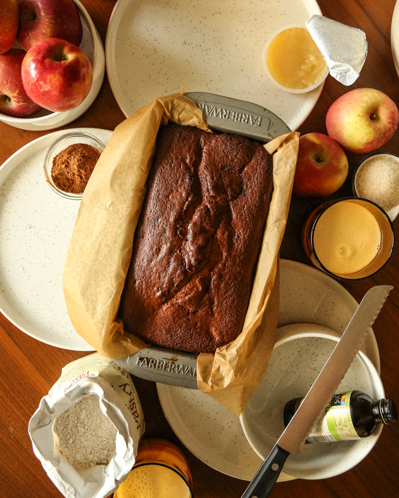 protein apple bread