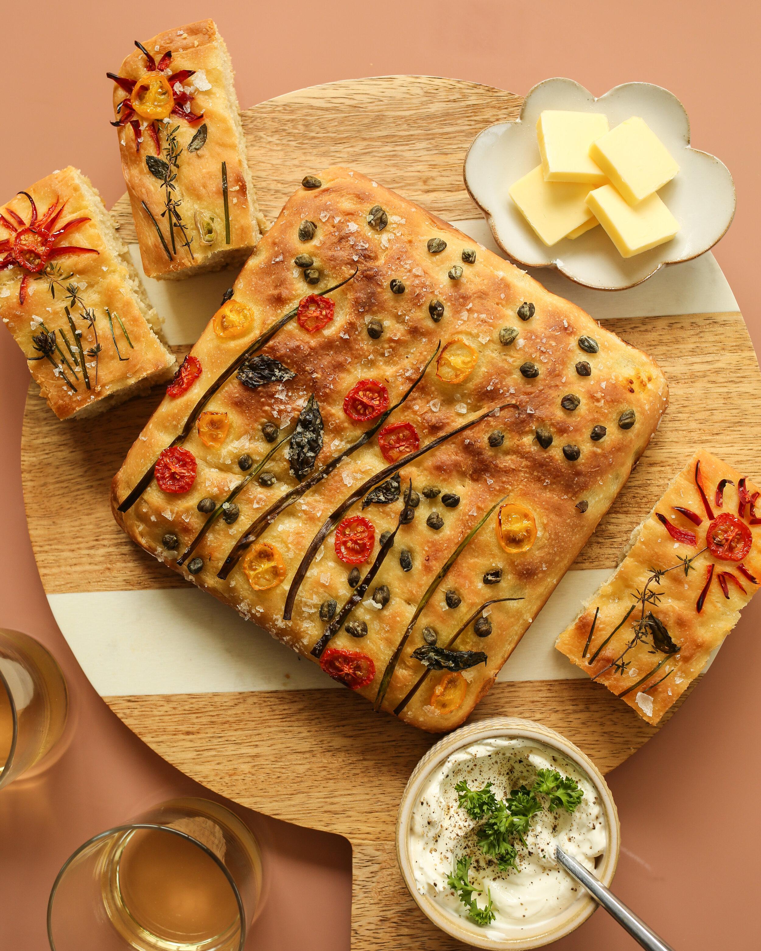 Garden Focaccia Bread Sticks Probably This