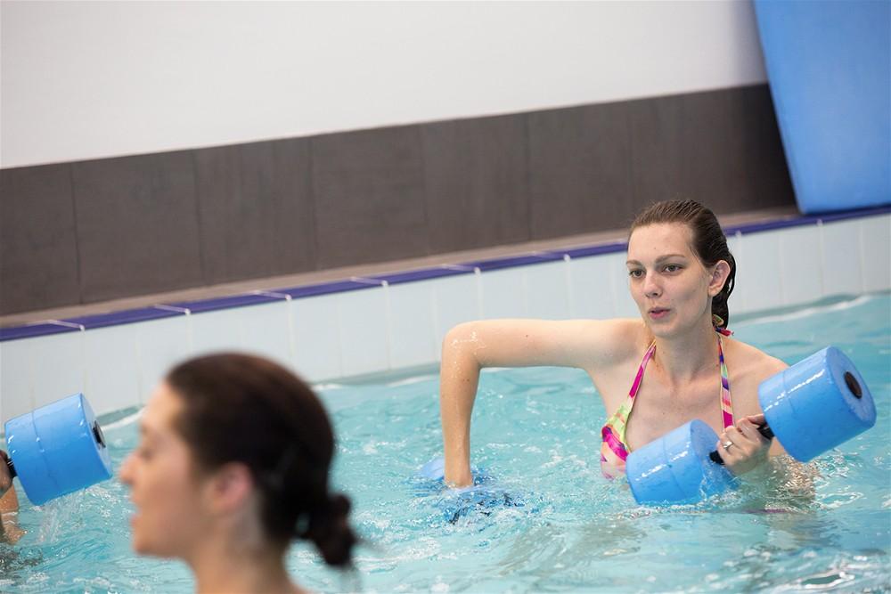 Postnatal aqua aerobics