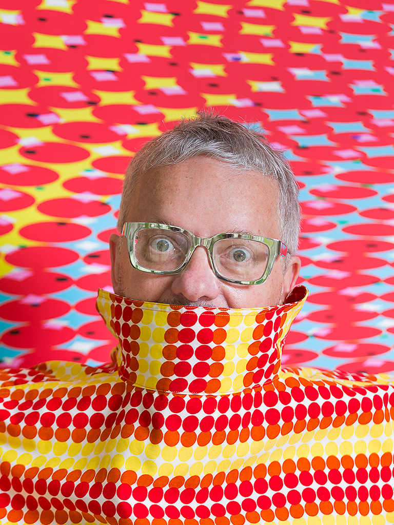 DEVO frontman and visual artist Mark Mothersbaugh for DINOSAUR Magazine Intl