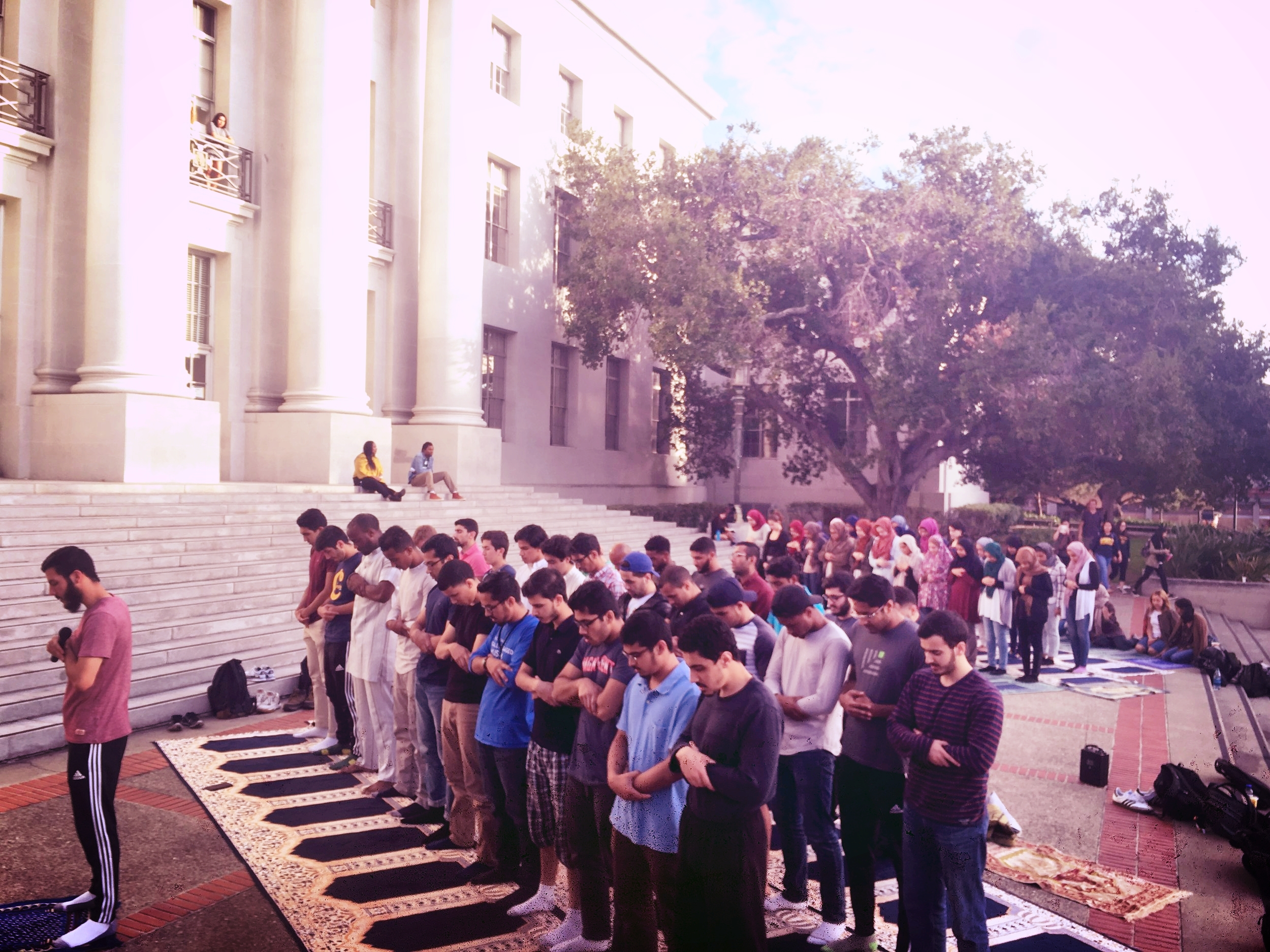 The Muslim student community at Berkeley. -