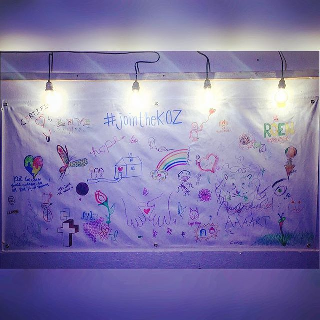 The canvas at the end of the event. Which design catches your eye?