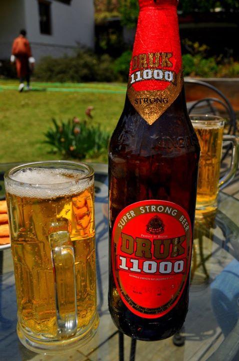 The famous Druk Beer.