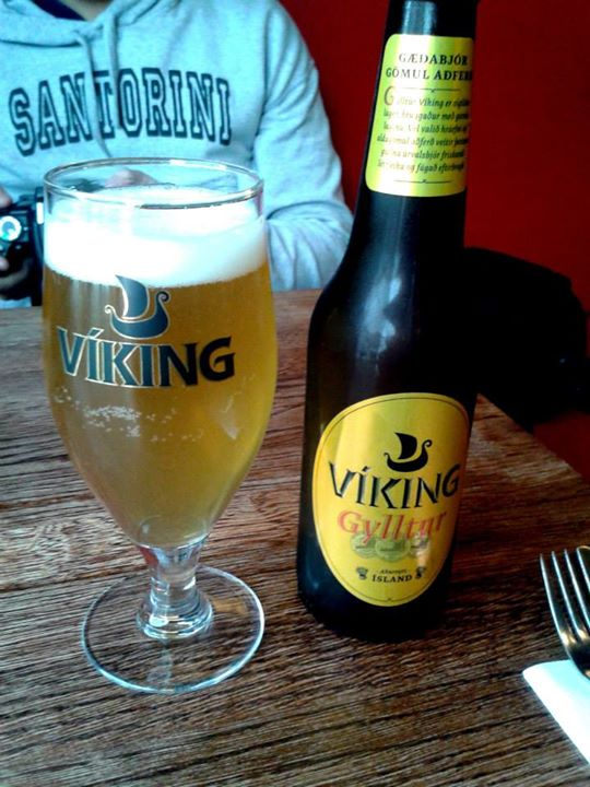 Lot's of good beers in Iceland. Of course, we had to try Viking Beer.