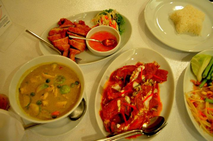 Some of the dishes at Baan Glom Gig Restaurant -  25 Ruamrudee Soi 1, Ploenchit Rd., Lumpini, Pathumwan,Bangkok