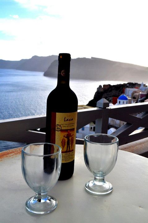 The local wines complement the beautiful backdrop of the gorgeous Greek islands.