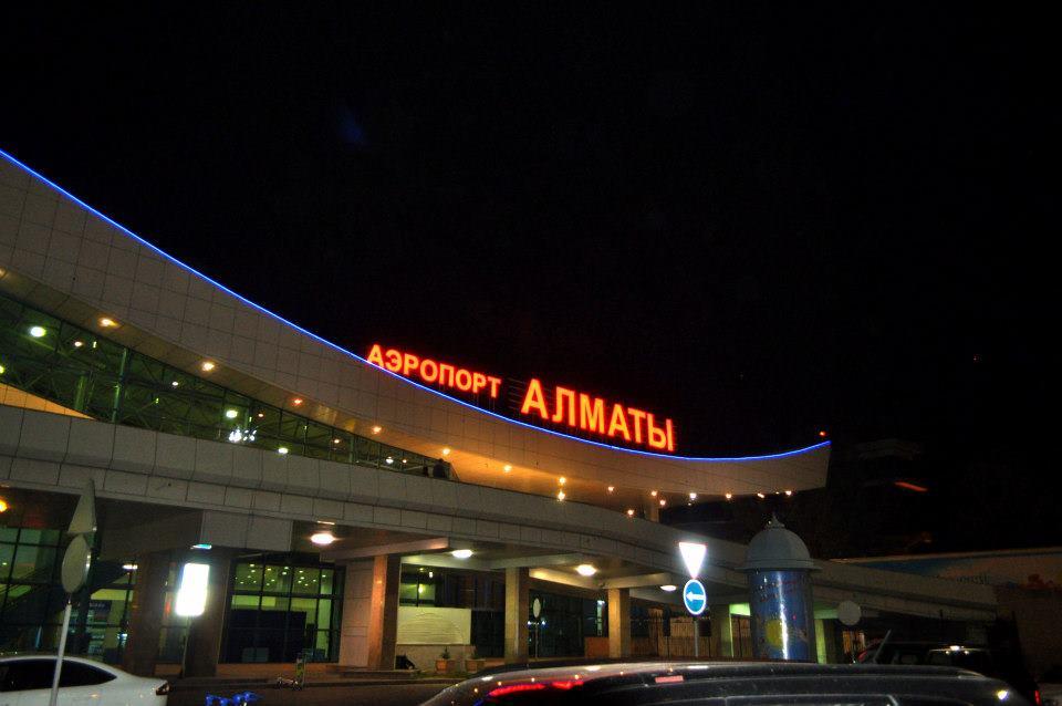 Almaty Airport.
