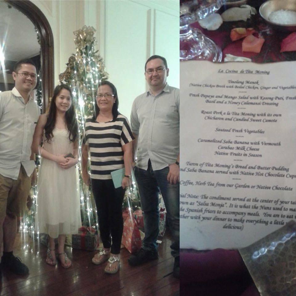 Spending Christmas lunch at La Cocina de Tita Moning.