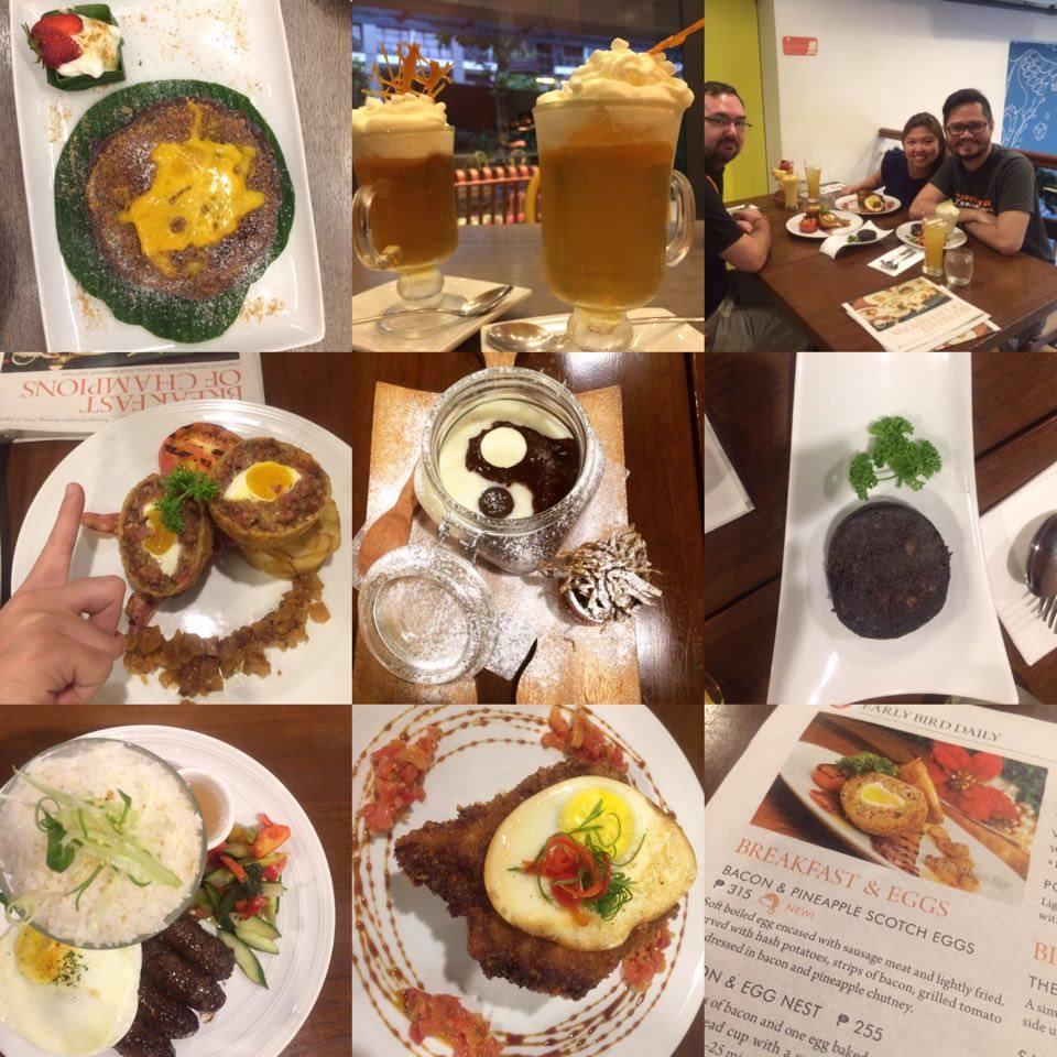 P uto Bumbong Pancakes; Butterbeer; Scotch Eggs with Glazed Pineapple and Bacon..; Yin-Yang Champorado; Black Pudding; Longganisa, Sweet-glazed Katsu-Tocino {Katcino}