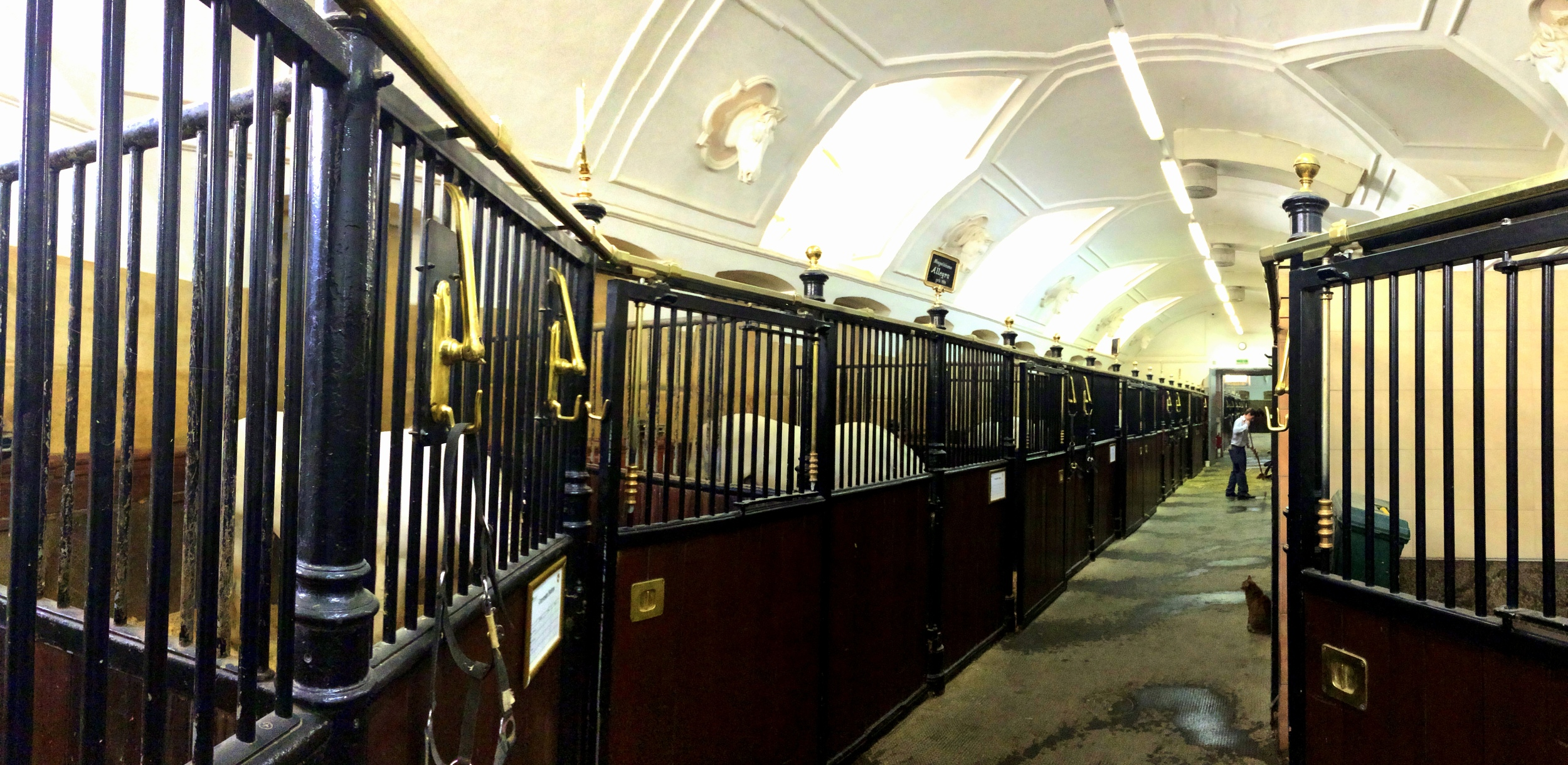 The Stables of the Spanish Riding School in Vienna.