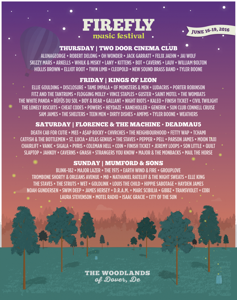 WE WILL BE PLAYING TWO SETS AT THIS YEARS FIREFLY FESTIVAL IN DOVER DELAWARE. A THURSDAY AND SATURDAY SET. SEE YOU THERE!!