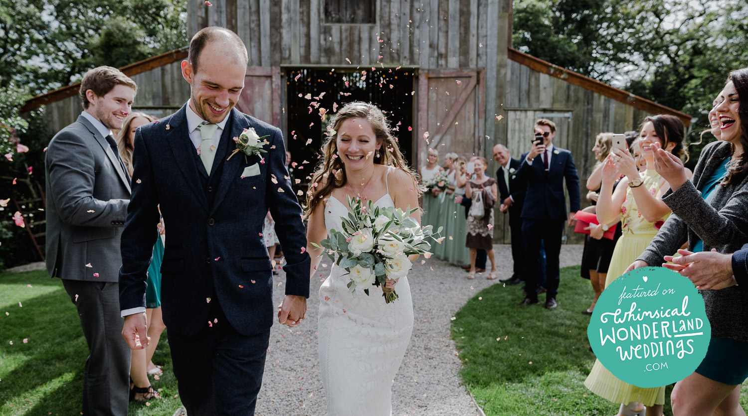 Tom & Charlie's rustic and personal Barn wedding at Nancarrow Farm in Cornwall features on the fabulous   whimsicalwonderlandweddings     .Get inspired by this beauty link   here