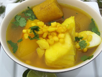 Sancocho soup from Spain (and very popular in the Spanish speaking Caribbean), recipes