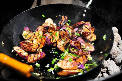 Grilled Chinese eggplant, this and other recipes below