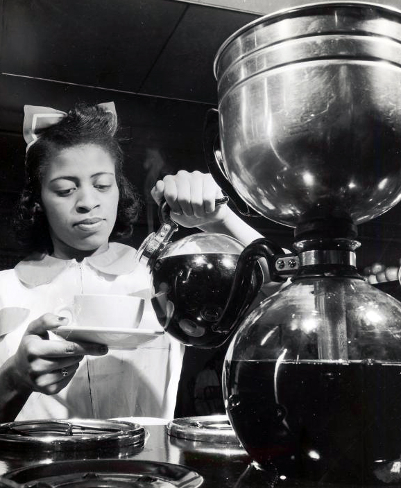 Serving Coffee circa 1935, Courtesy of The Schomburg Center for Research in Black Culture