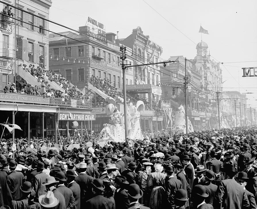 Mardi Gras Parade, New Orleans circa 1900, Courtesy of the Library of Congress