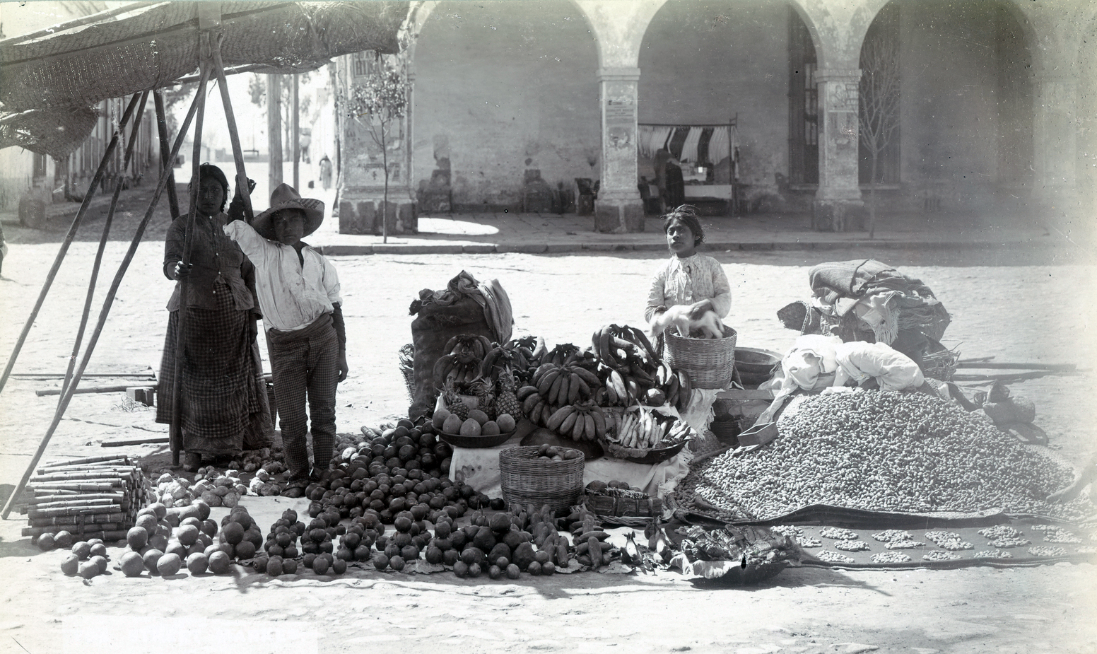 Fruit Vendor, Mexico, 1890, Courtesy of the New York Public Library