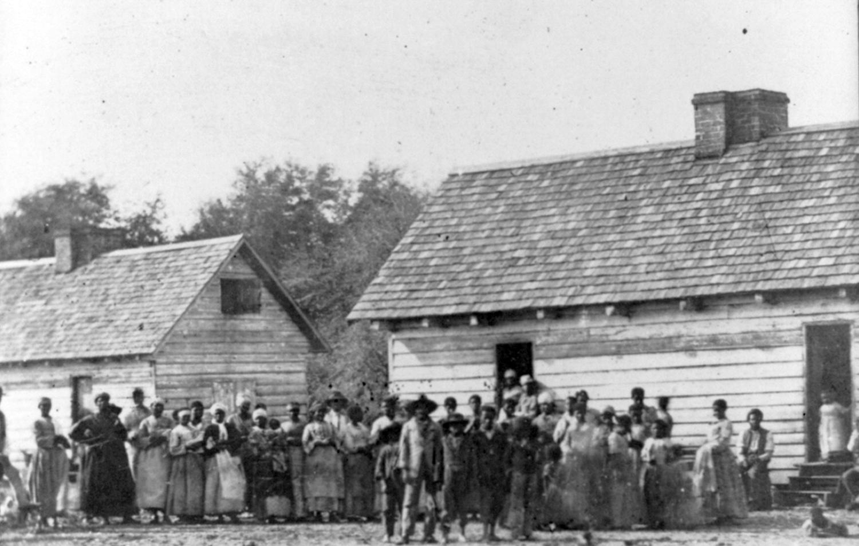 Antebellum plantation scene, courtesy of Library of Congress