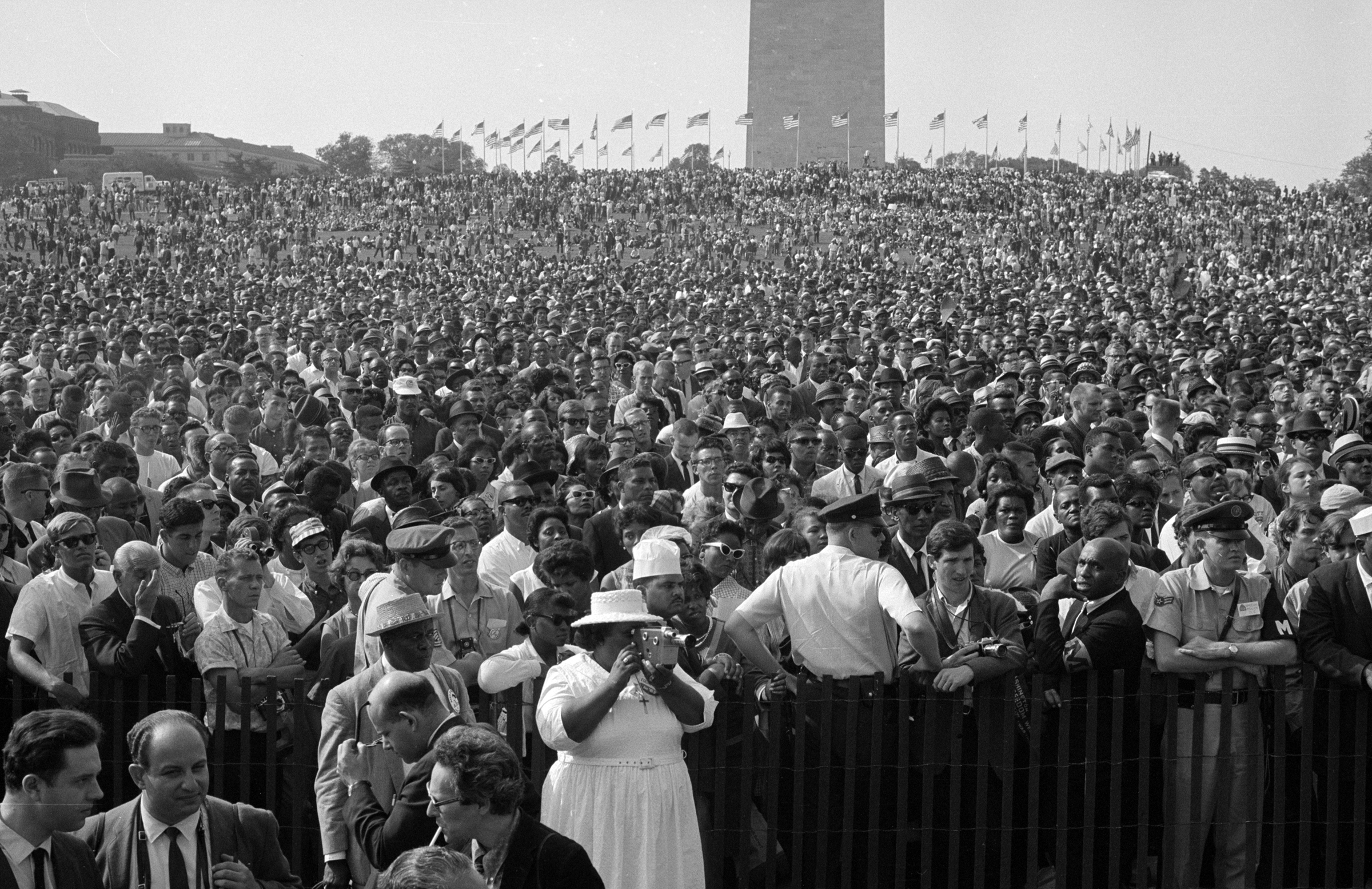 Crowd at the August 1963 March on Washington, Courtesy of the Library of Congress