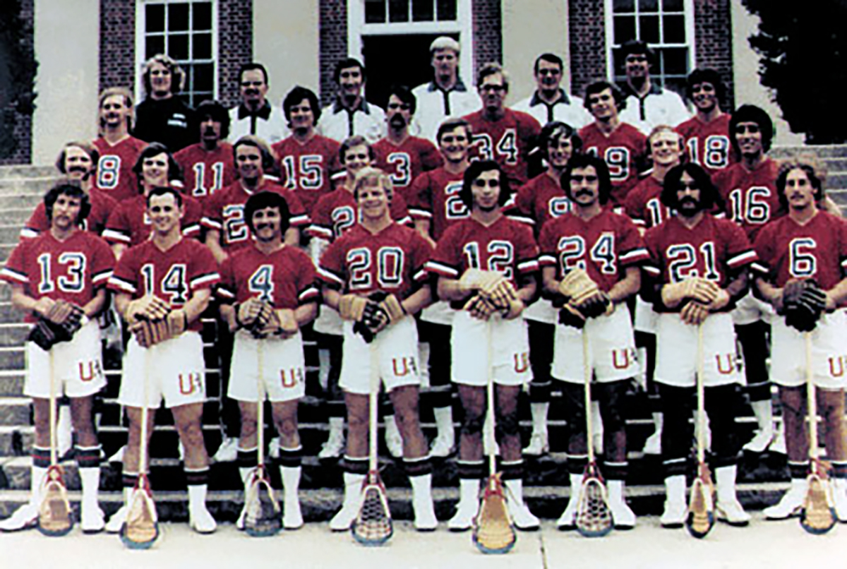 1974 US National Team Captain Alan Lowe wearing #14, Courtesy of US Lacrosse