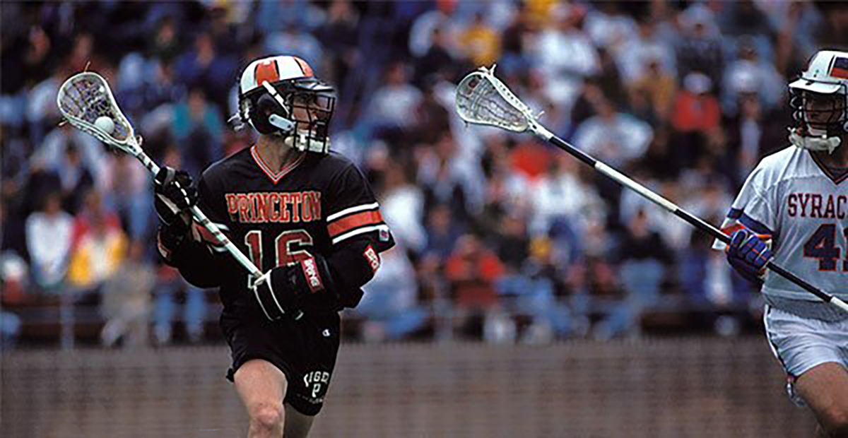 Kevin Lowe in a game against Syracuse during his collegiate days at Princeton, Courtesy of Princeton University.