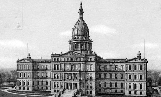 State Capitol in Lansing, Michigan, Courtesy of the New York Public Library
