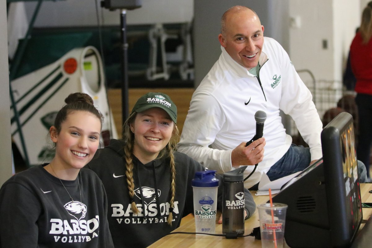 Babson student athletes and Babson AD Mike Lynch, Courtesy of Babson College