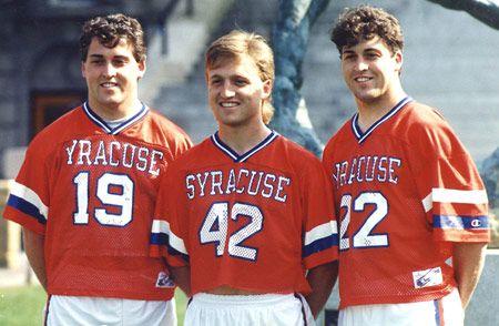Left to right, Paul Gait, Tom Marecheck, Gary Gait, Courtesy of Syracuse University