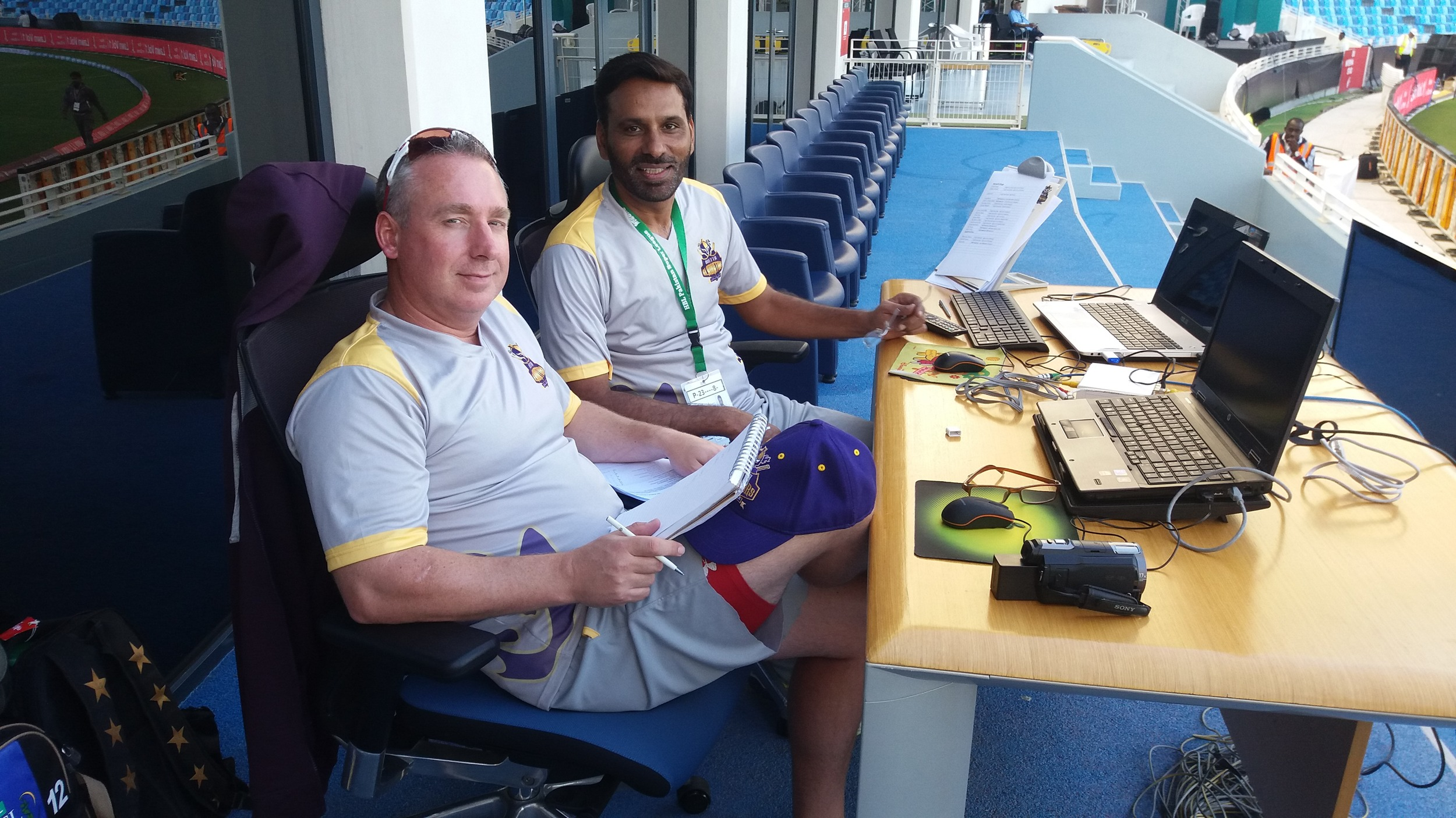 Julien Fountain coaching the Quetta Gladiators in Dubai for PSL 2016