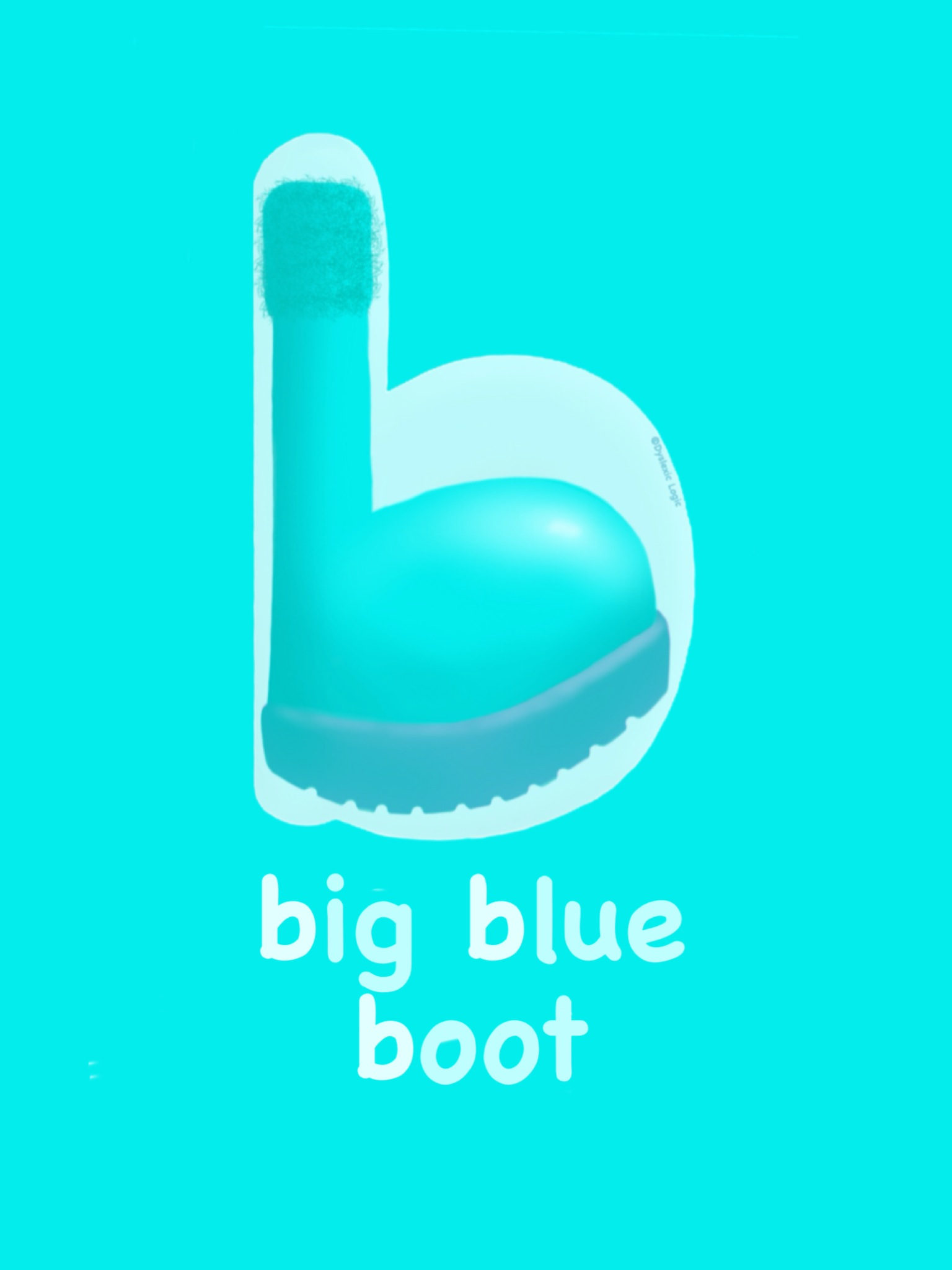 Letter B- Big Blue Boot