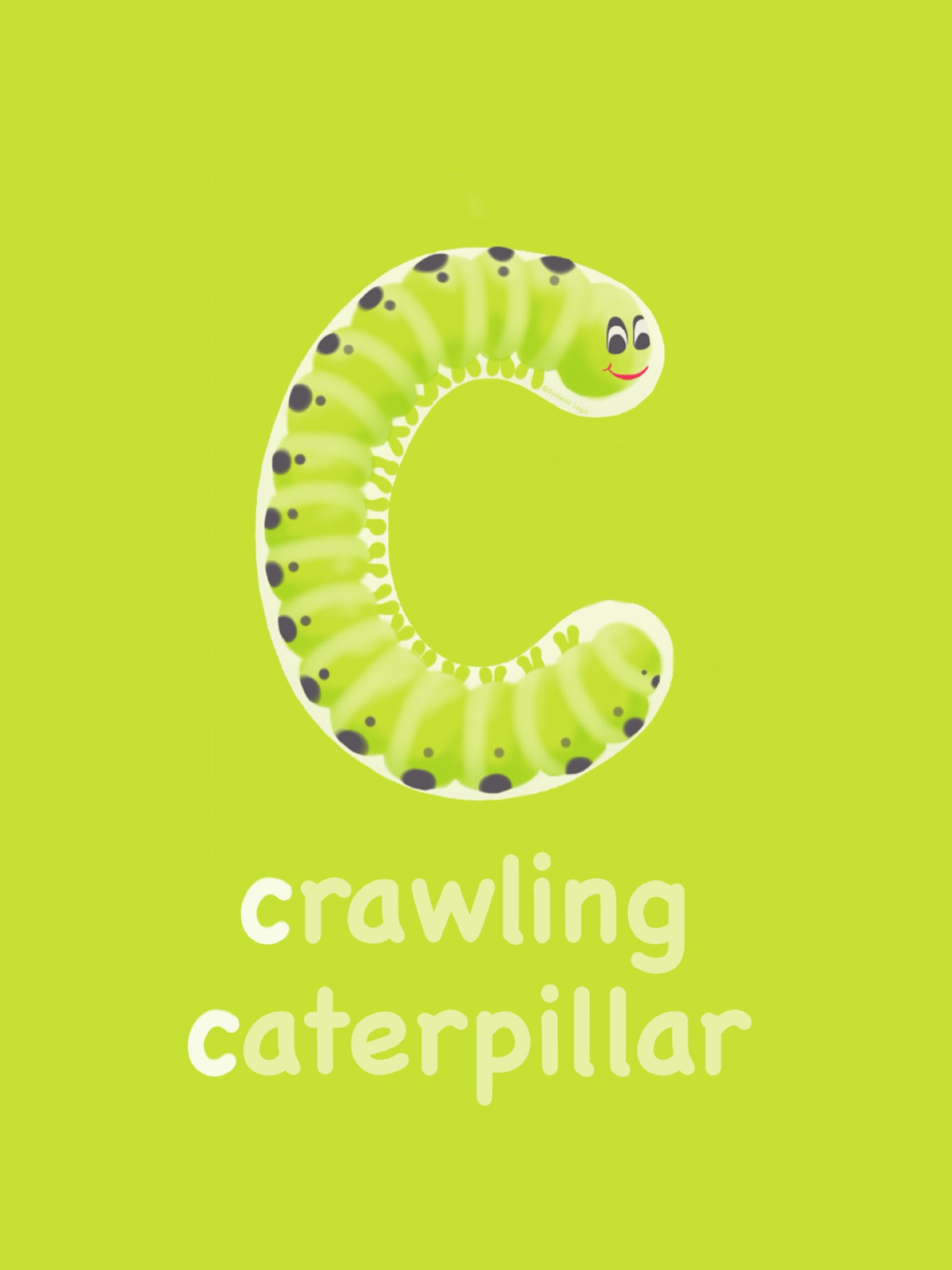 Letter C- Crawling Caterpillar