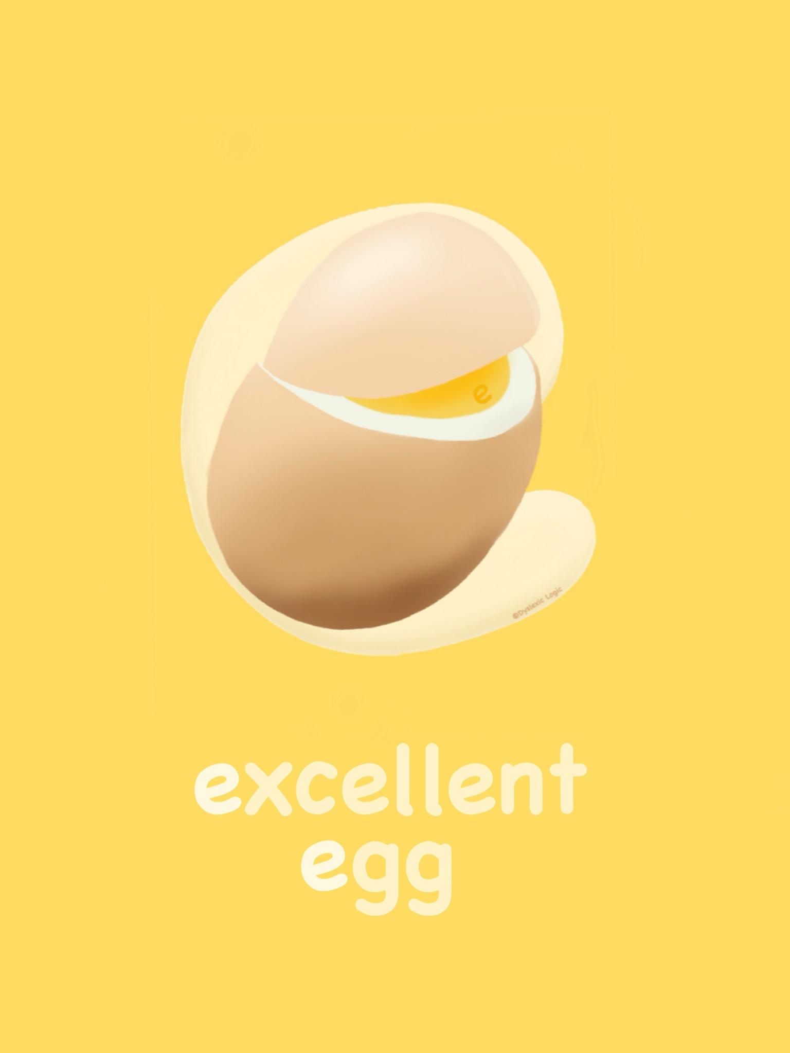 Letter E- Excellent Egg