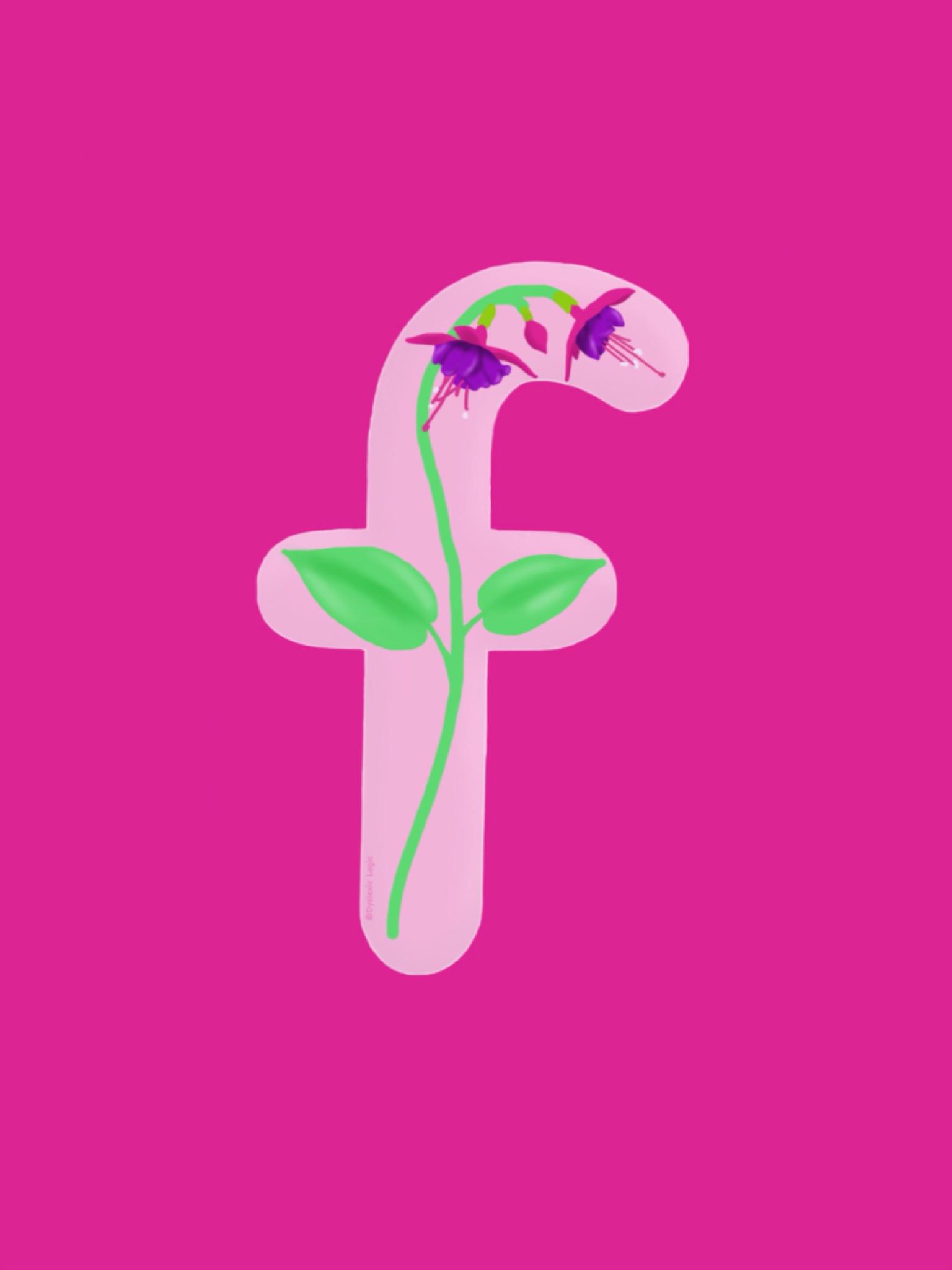 Letter F- Floppy Flower