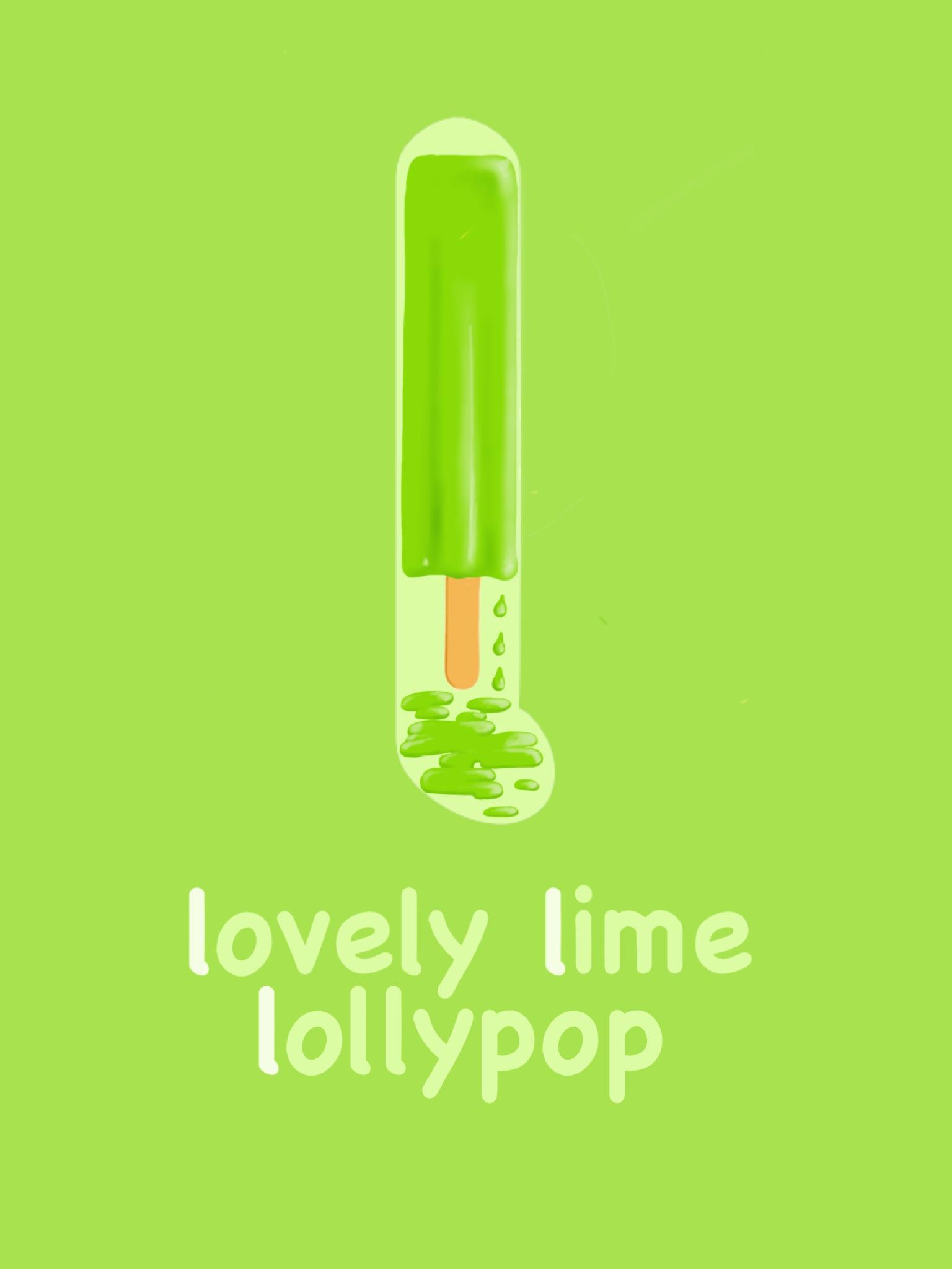 Letter L - Lovely Lime Lollypop