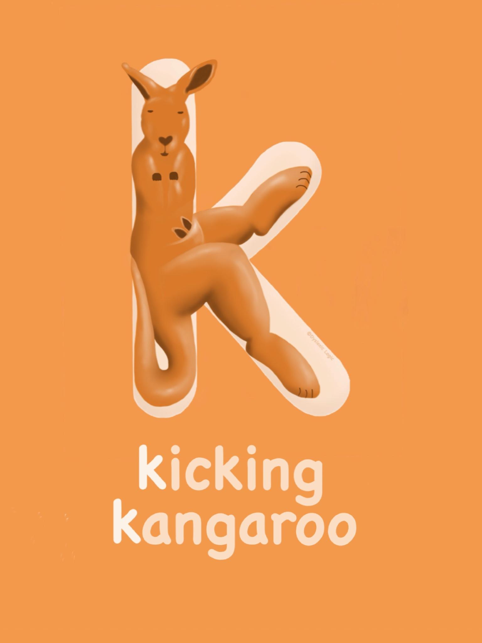 Letter K- Kicking Kangaroo