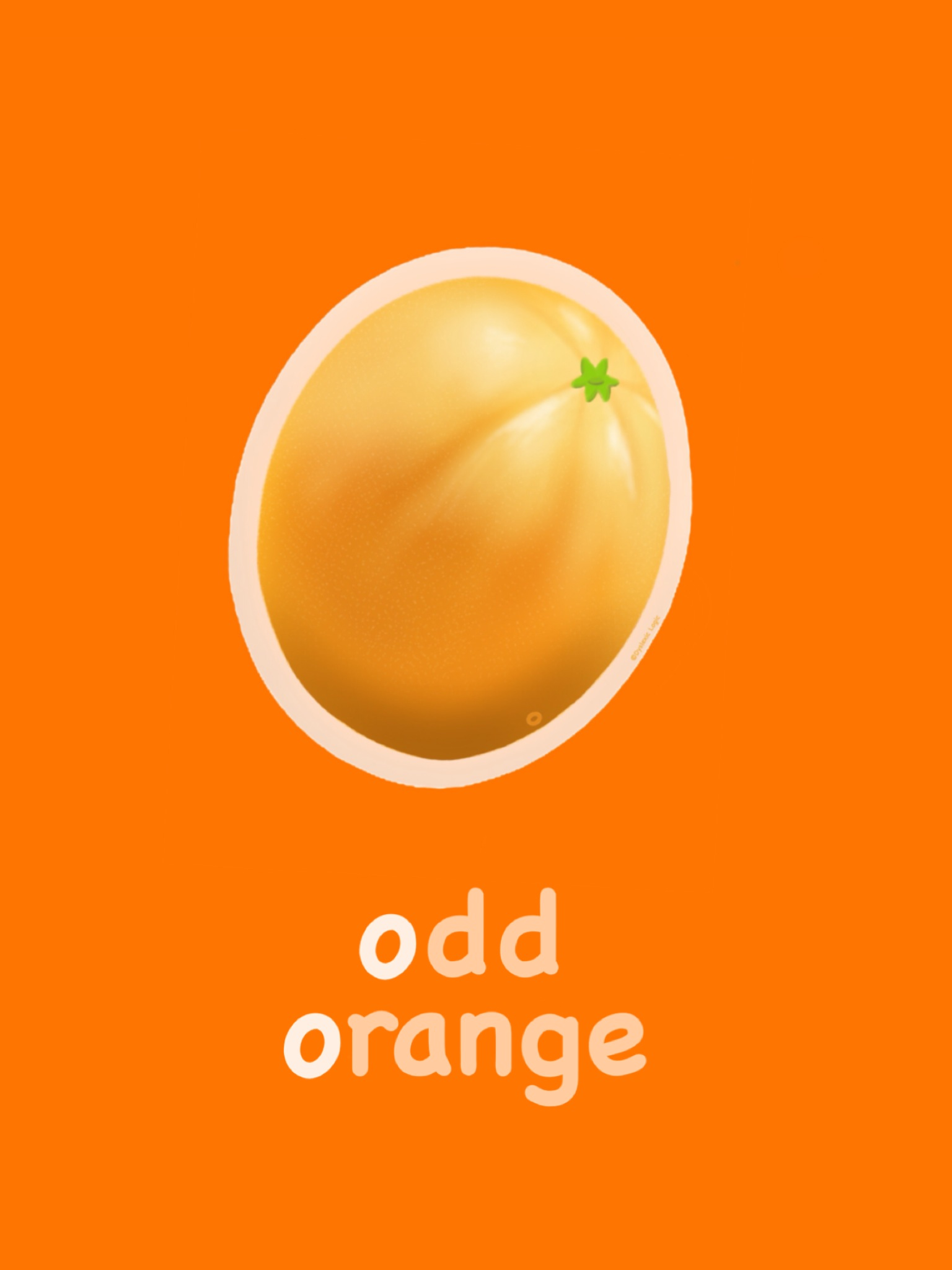 Letter O - Odd Orange