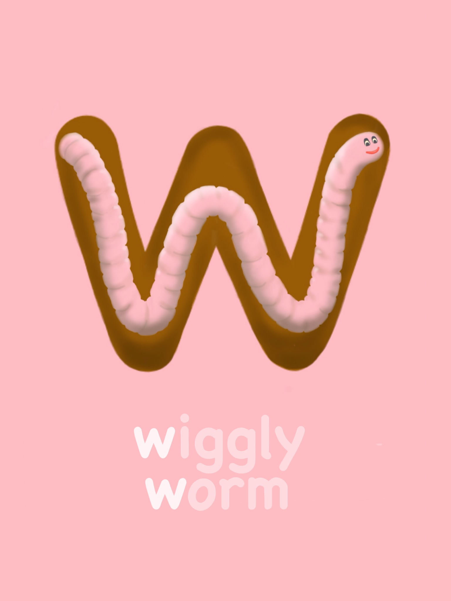 Letter W - Wiggly Worm