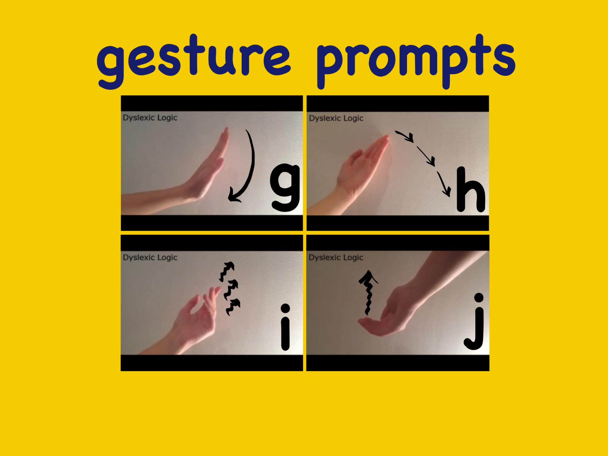 Described as 'makaton for phonics' gestures help distinguish between similar sounds.