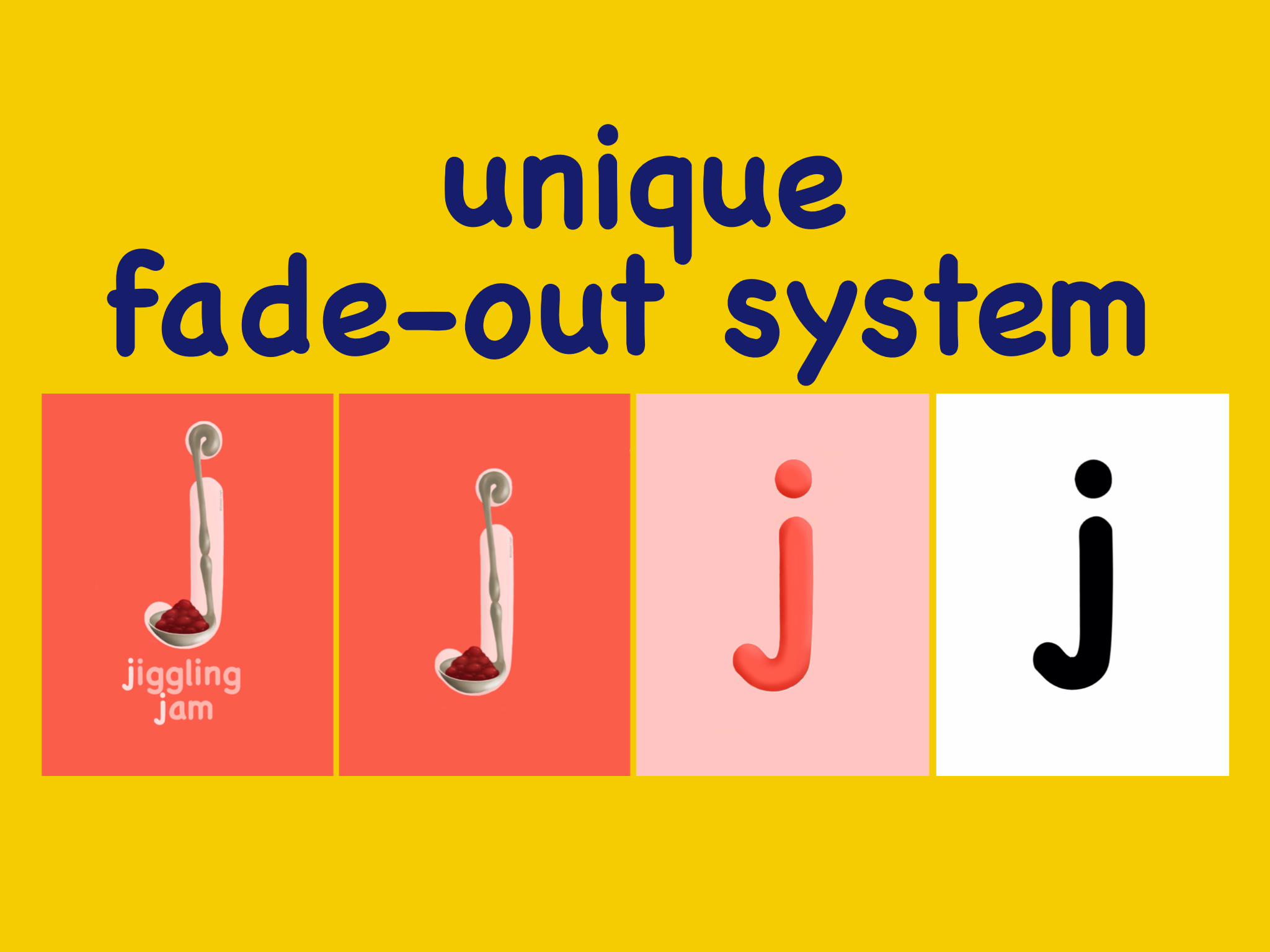 the fade out system allows for smaller incremental steps.
