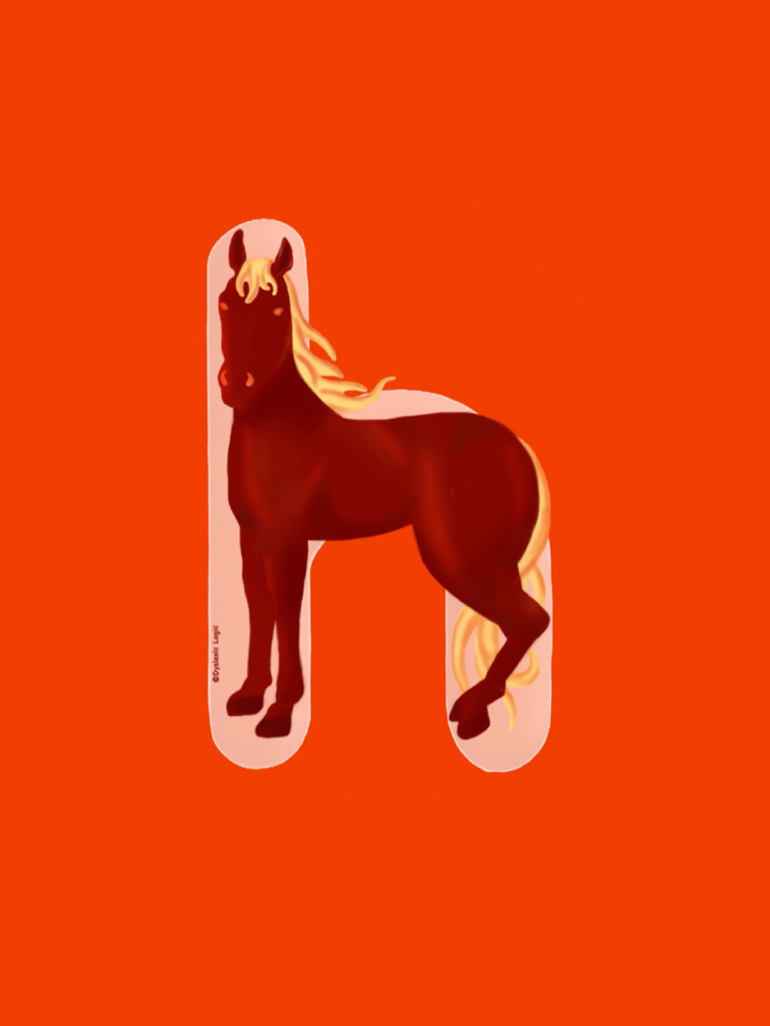 Letter H- Hot Huffing Horse