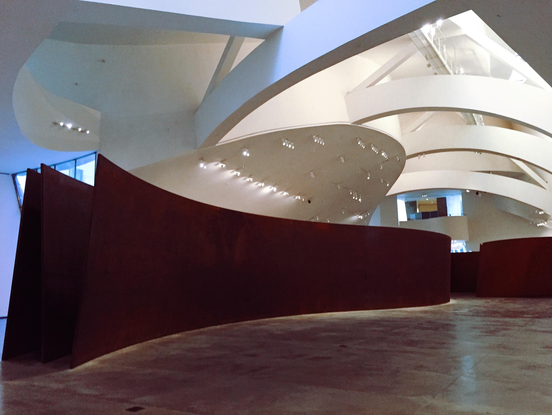 Richard Serra installation in Guggenheim.