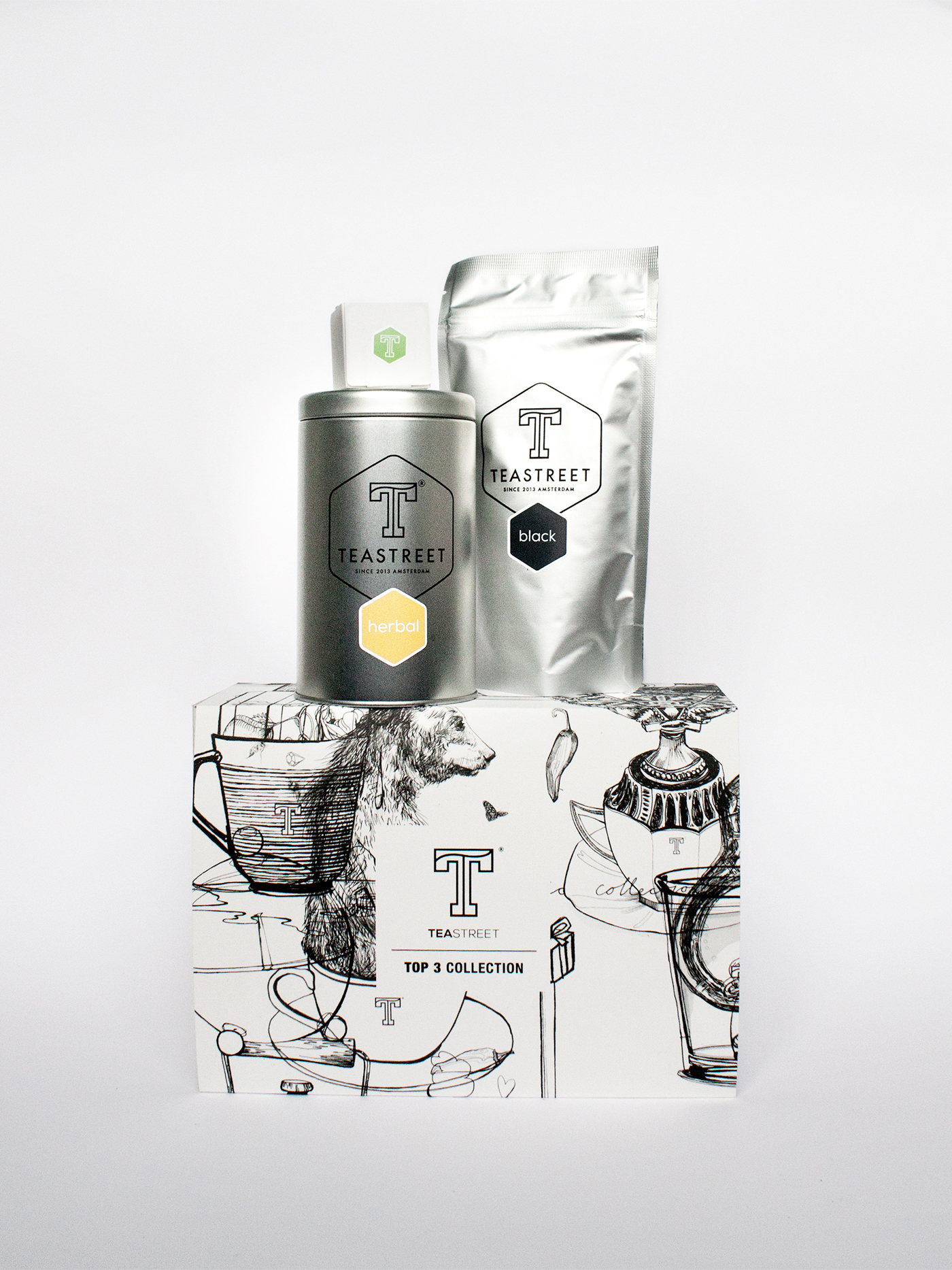 fig. 1. Packaging illustrations for the tea gift box