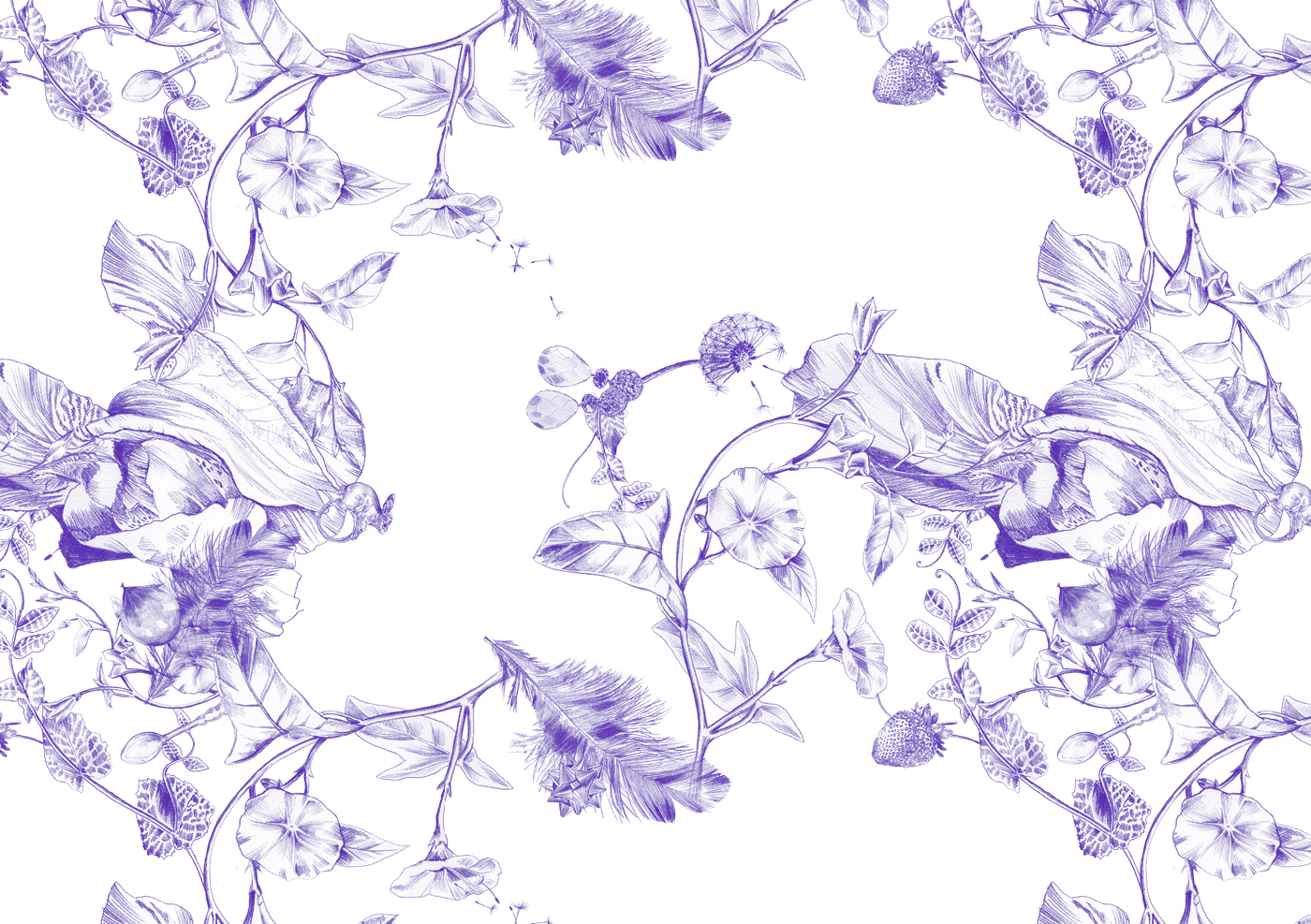 fig. 1. Repeat pattern, floral themed