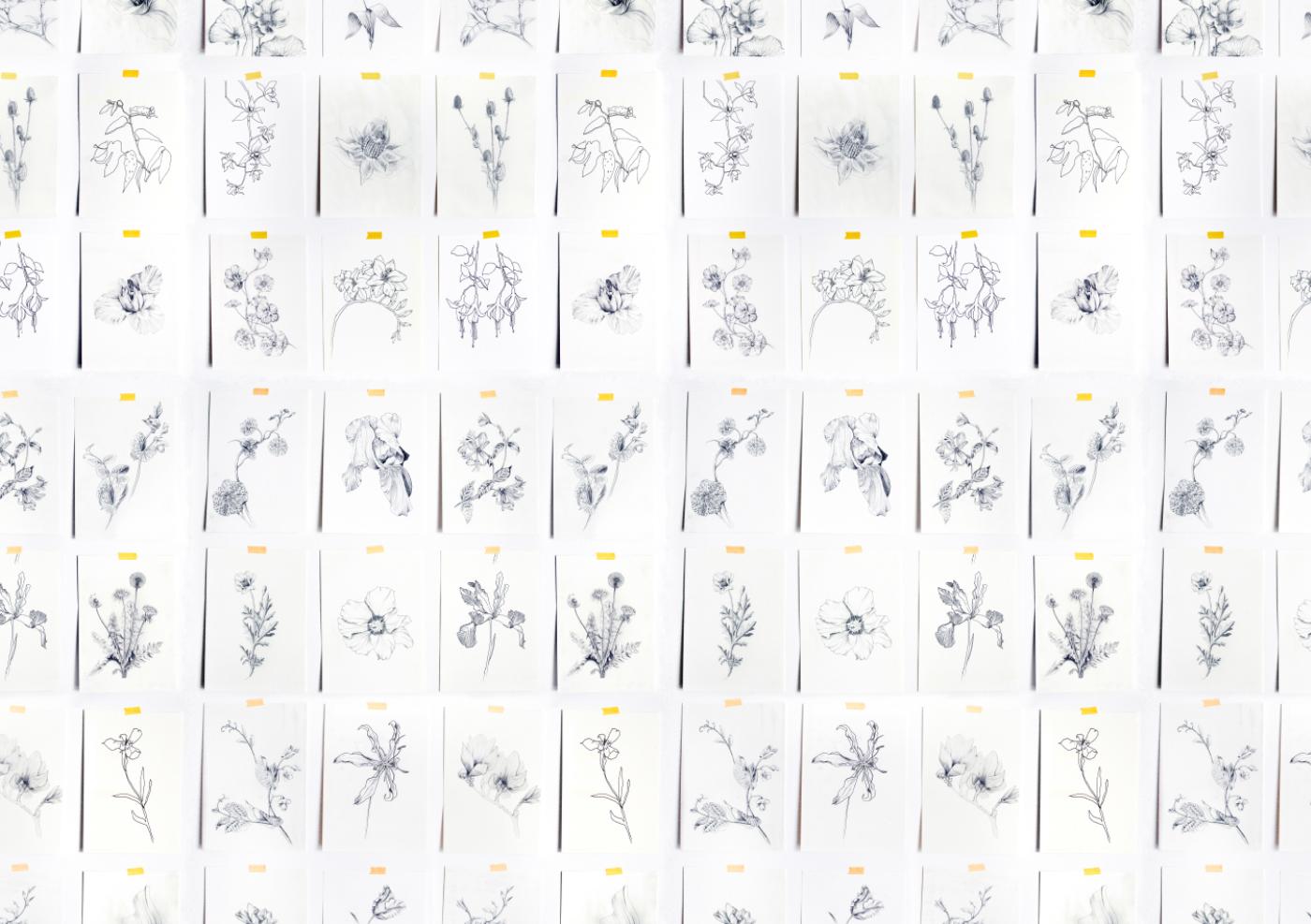 fig 1. Repeat Botanical Pattern