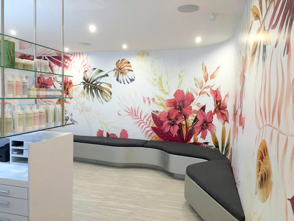 Fig. 4. Reception Area (photo: Wax Revolution) Mural