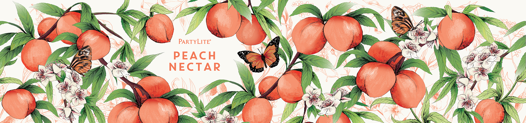 fig. 15. Peach Nectar candle wrap pattern illustration