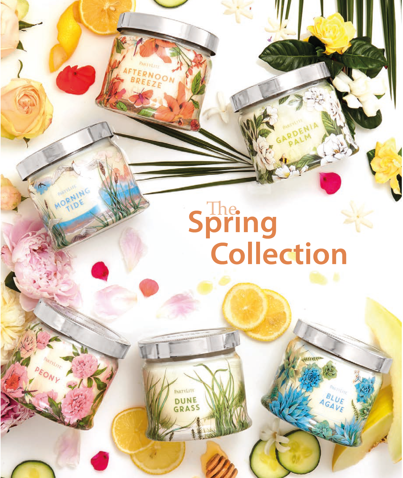 fig 1. Partylite Spring Collection (photo: Partylite catalogue)